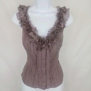 Bebe sexy ruffle blouse 🌺